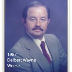 1987 - Delbert Wayne Weese